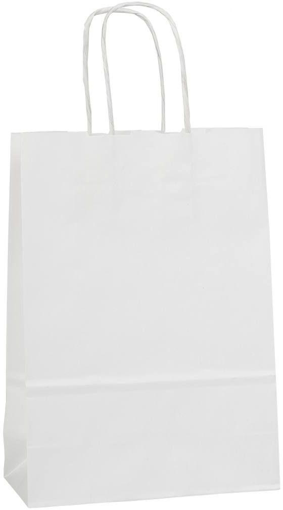 Bílá papírová taška 18x8x25 cm