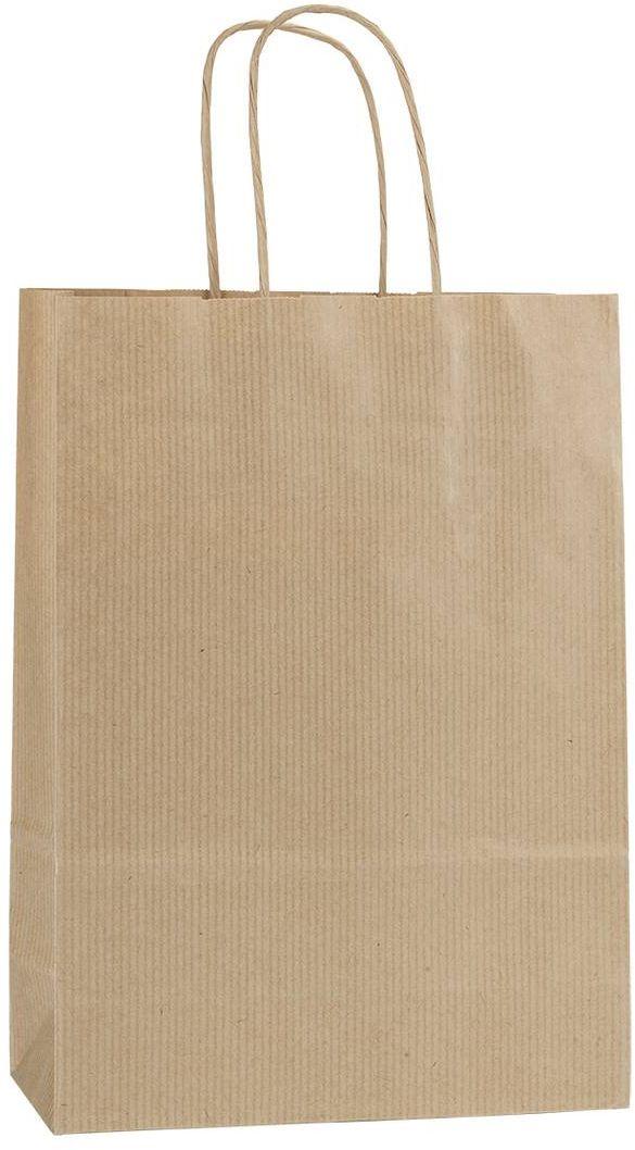 Hnědá papírová taška 18x8x25 cm