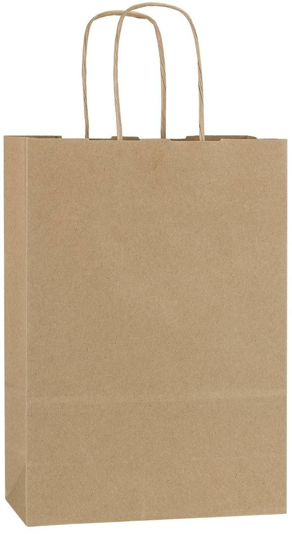 Hnědá recyklovaná taška 18x8x25 cm