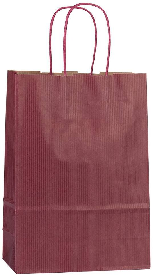 Vínová papírová taška 18x8x25 cm