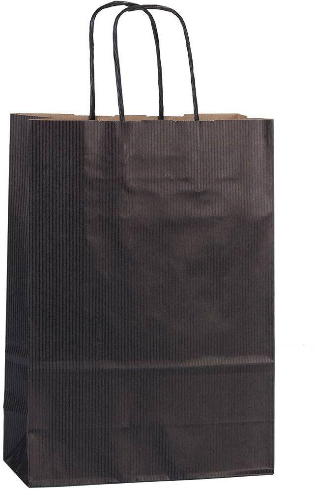 Černá papírová taška 18x8x25 cm