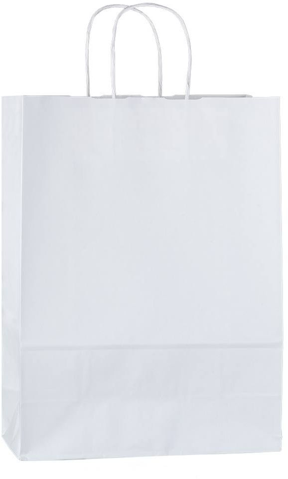 Bílá papírová taška 23x10x32 cm