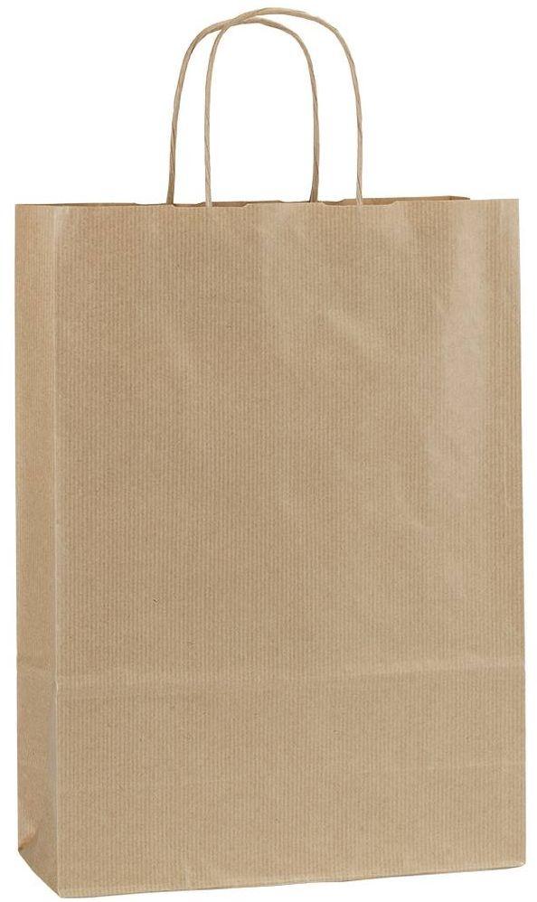 Hnědá papírová taška 23x10x32 cm