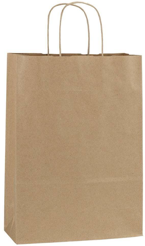 Hnědá recyklovaná taška 23x10x32 cm