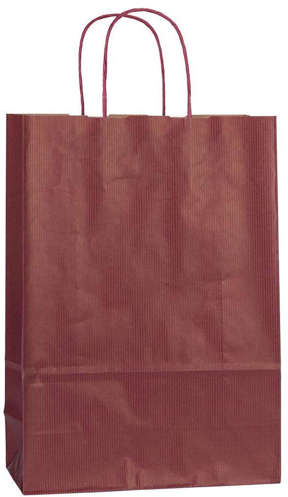 Vínová papírová taška 23x10x32 cm
