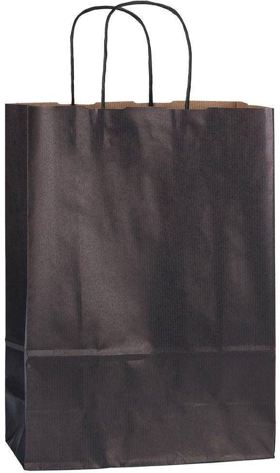 Černá papírová taška 23x10x32 cm
