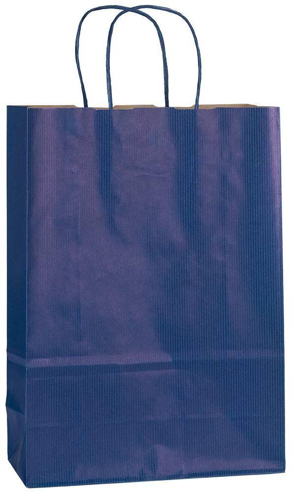 Modrá papírová taška 23x10x32 cm