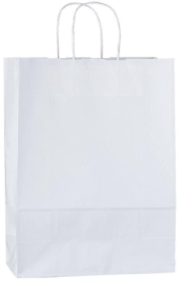 Bílá papírová taška 26x11x34,5 cm