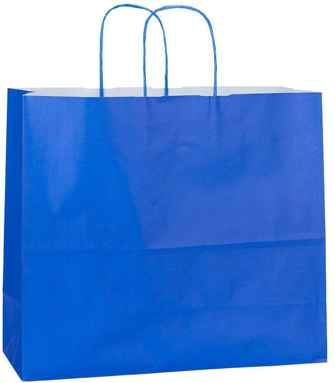 Modrá papírová taška 32x13x28 cm