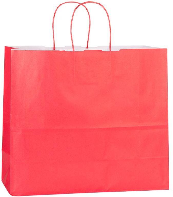 Červená papírová taška 32x13x28 cm