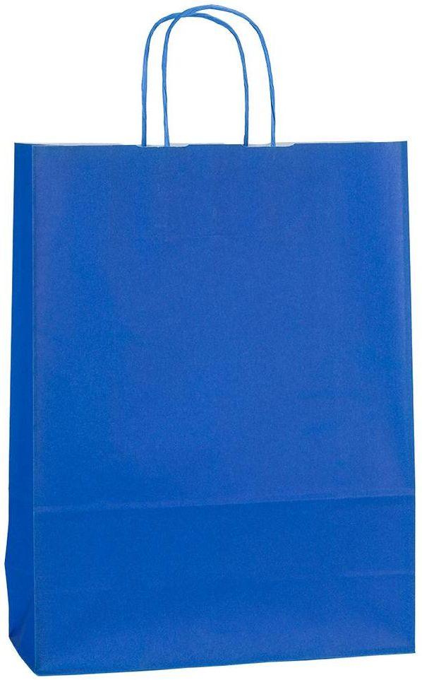 Modrá papírová taška 32x13x42 cm