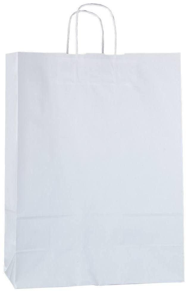 Bílá papírová taška 32x13x42,5 cm