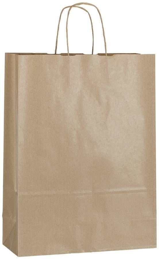 Hnědá papírová taška 32x13x42,5 cm