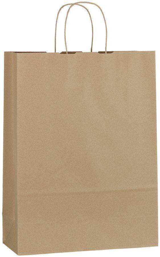 Hnědá recyklovaná taška 32x13x42,5 cm