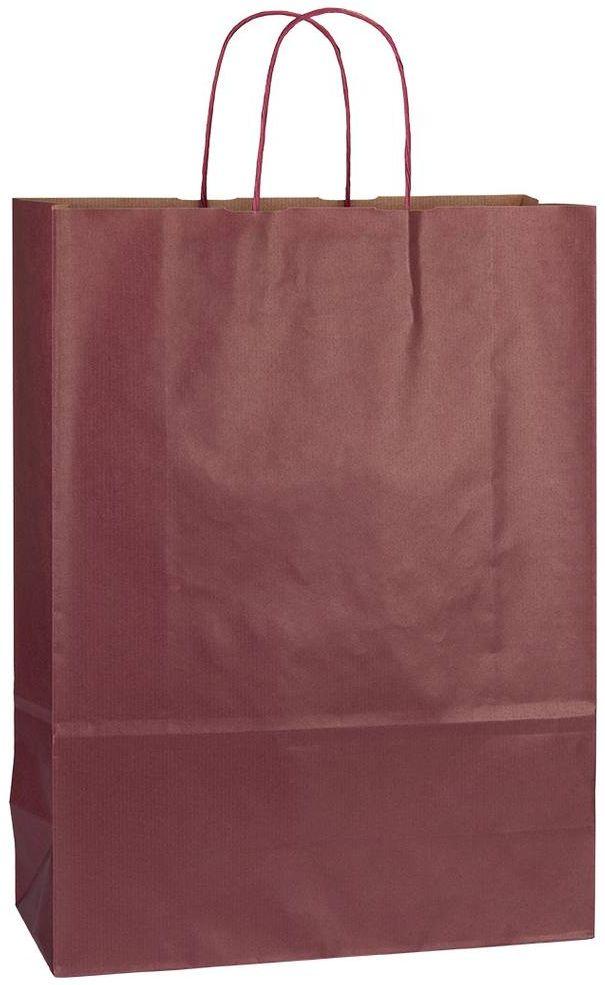Vínová papírová taška 32x13x42,5 cm