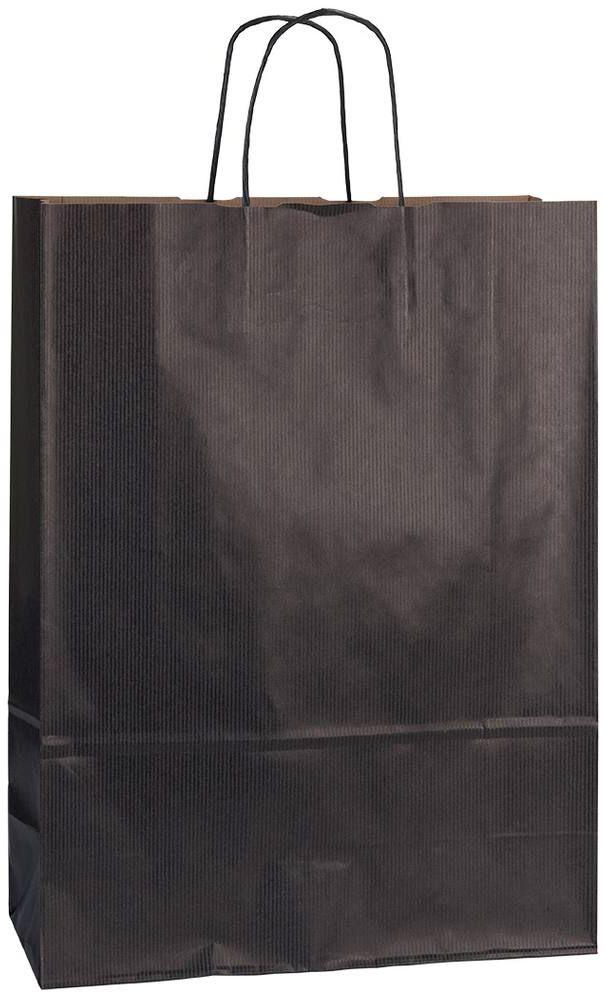 Černá papírová taška 32x13x42,5 cm