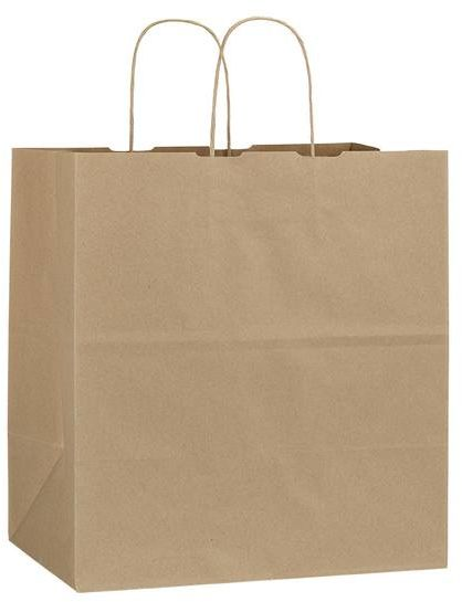 Hnědá recyklovaná taška 32x19x34 cm