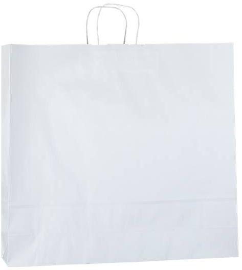 Bílá papírová taška 54x14x50 cm