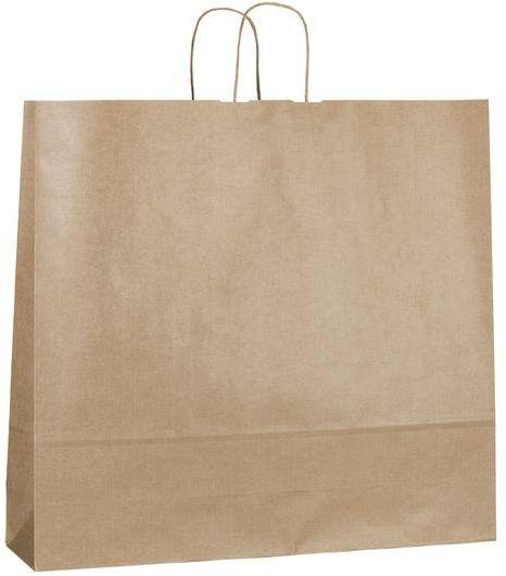 Hnědá papírová taška 54x14x50 cm