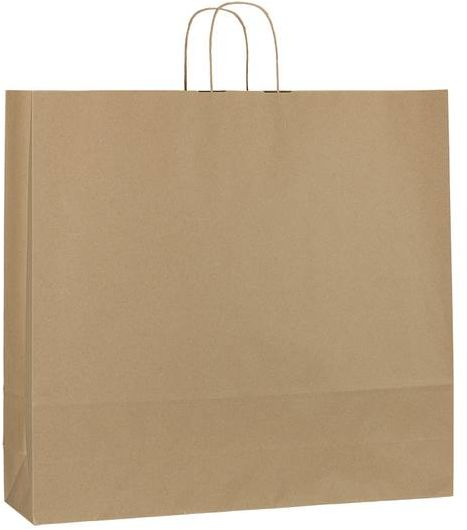 Hnědá recyklovaná taška 54x14x50 cm