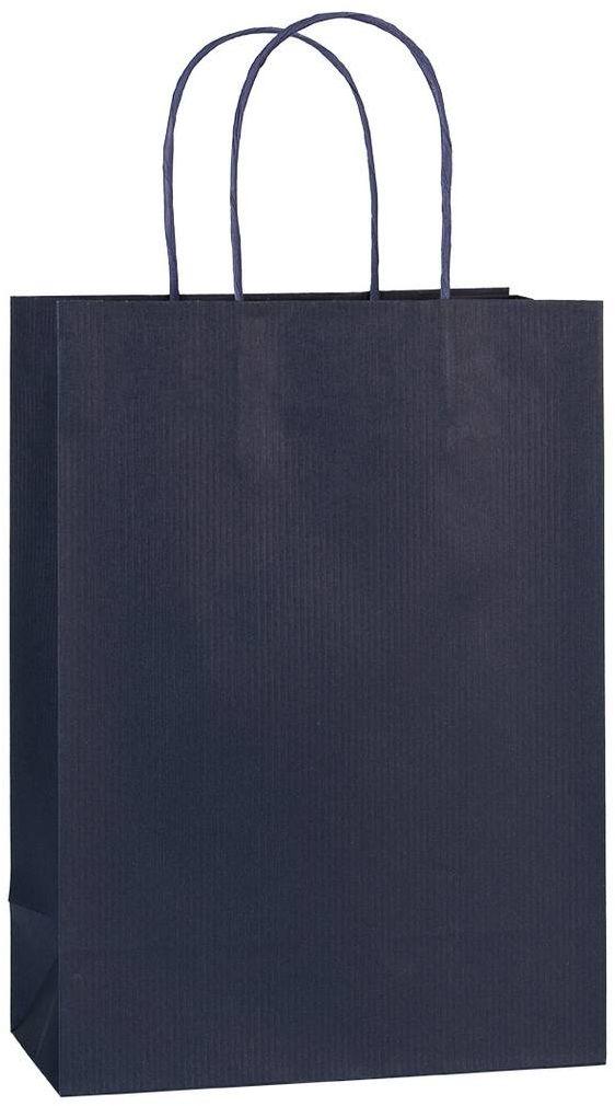 Tmavě modrá dárková taška 20x10x28