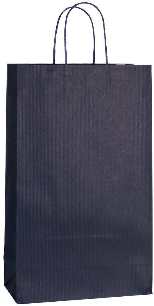 Tmavě modrá papírová taška 25x11x41