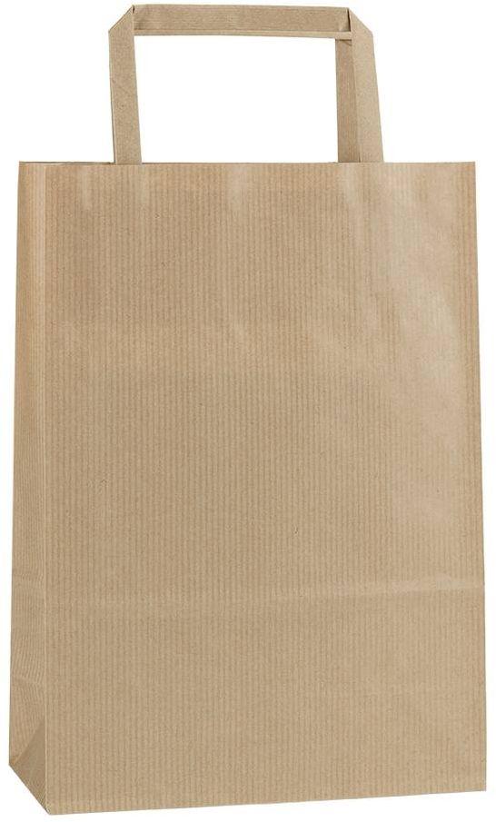 Světle hnědá papírová taška 18x8x25 cm