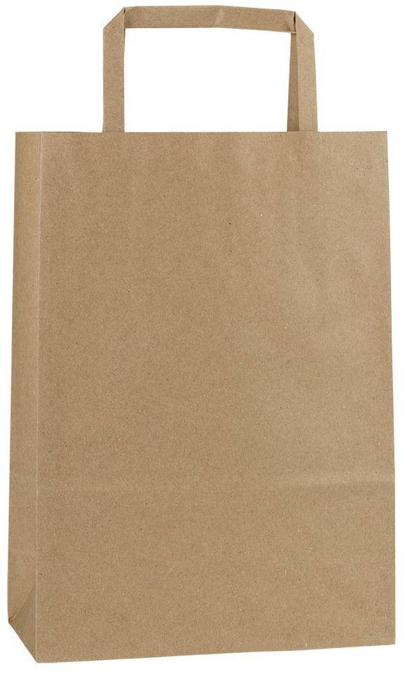 Světle hnědá recyklovaná taška 18x8x25 cm