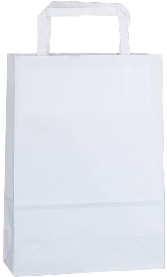 Bílá kraftová taška 18x8x25 cm