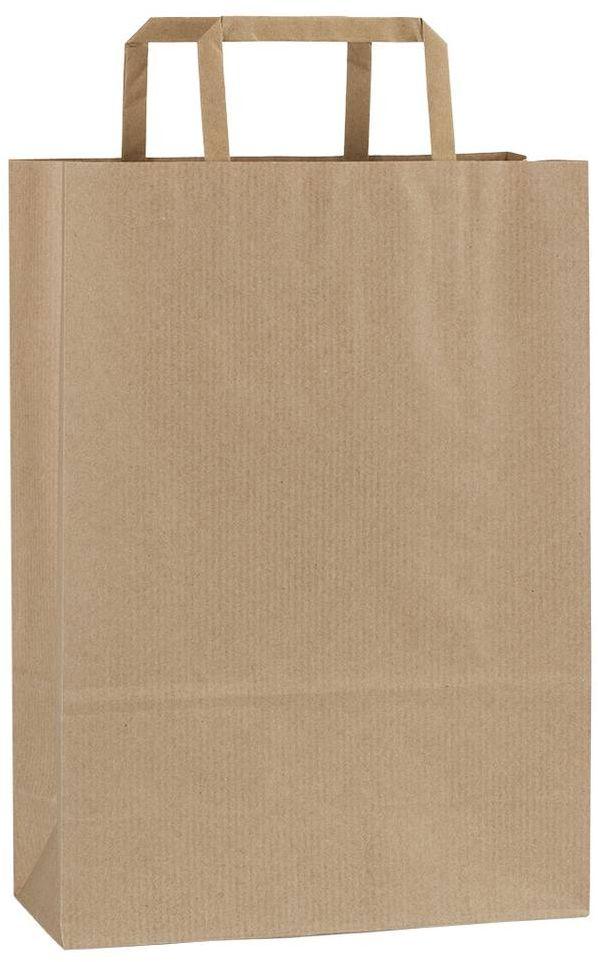 Světle hnědá papírová taška 23x10x32 cm