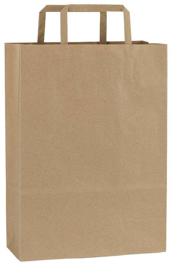 Světle hnědá recyklovaná taška 23x10x32 cm