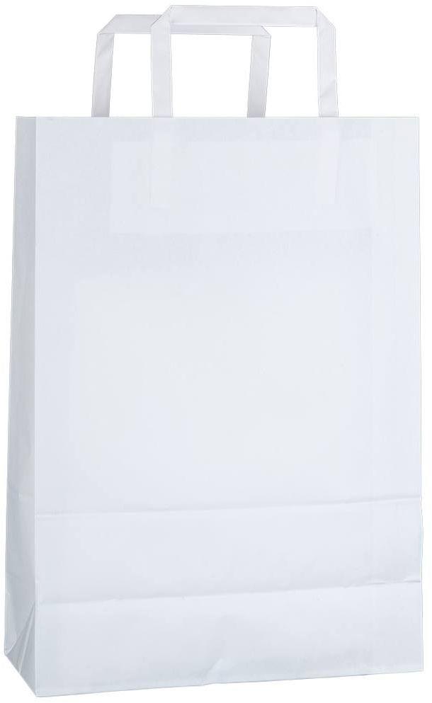Bílá kraftová taška 23x10x32 cm