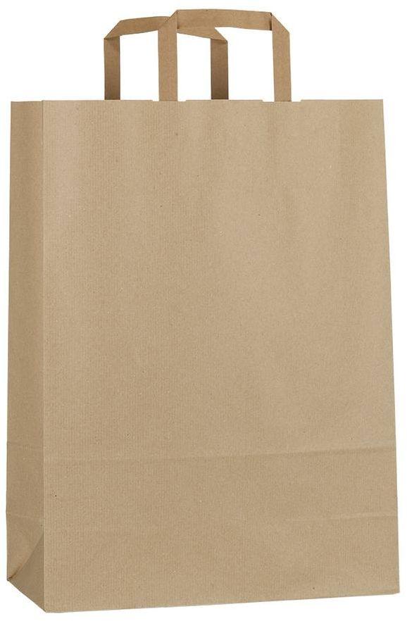 Světle hnědá papírová taška 26x11x38 cm