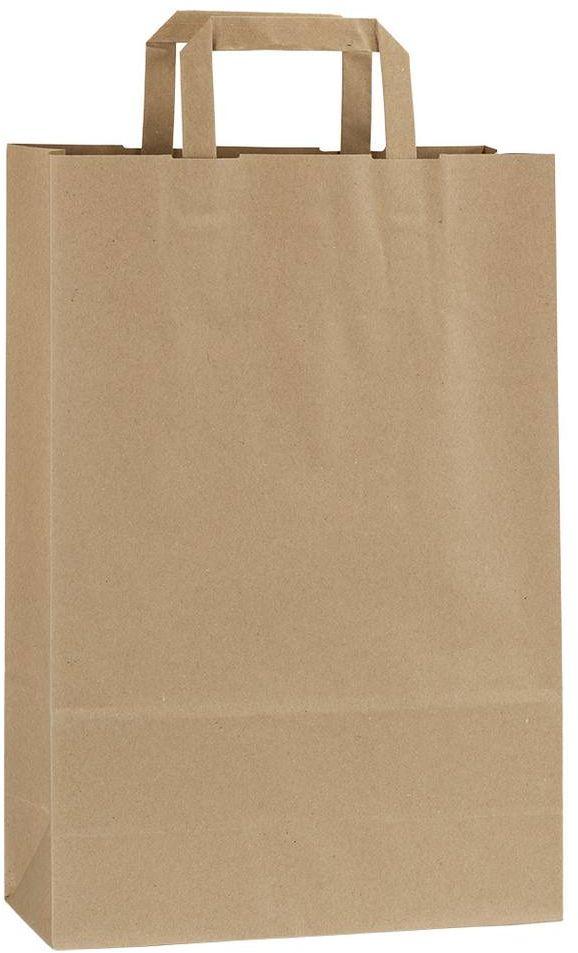 Světle hnědá recyklovaná taška 26x11x38 cm