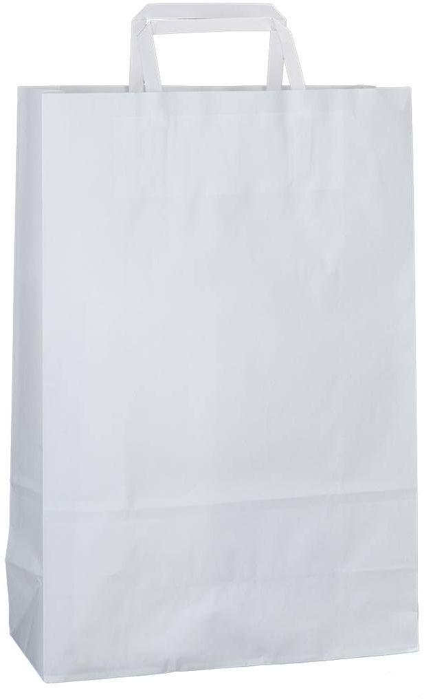 Bílá kraftová taška 26x11x38 cm