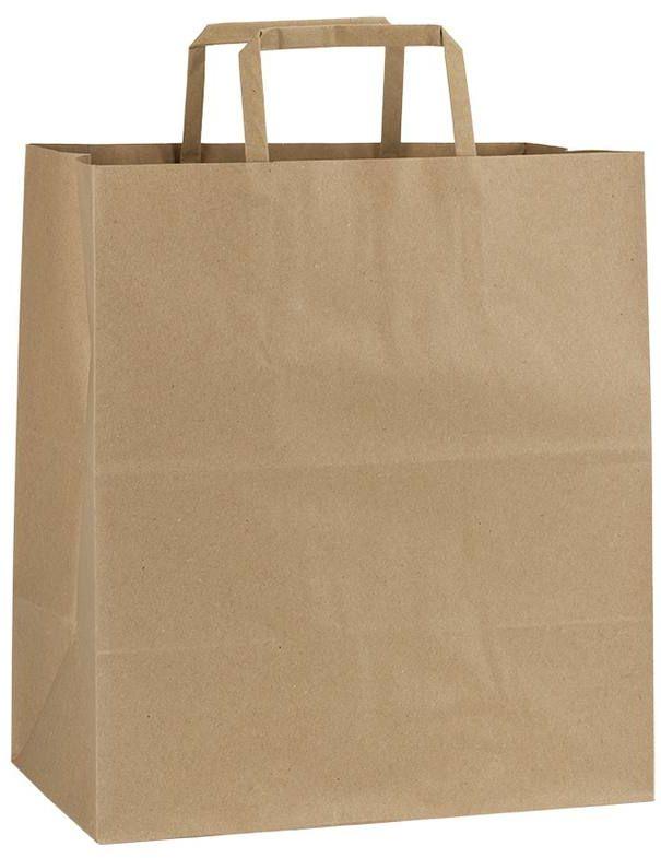 Světle hnědá papírová taška 26x16x29 cm