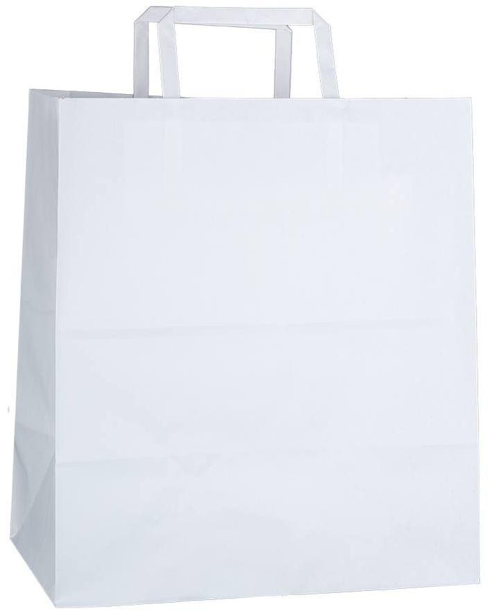 Bílá kraftová taška 26x16x29 cm