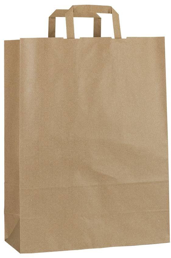 Světle hnědá papírová taška 32x13x42,5 cm