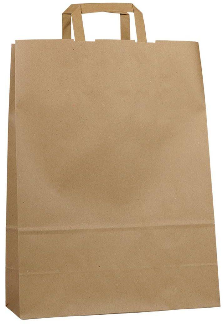 Světle hnědá recyklovaná taška 32x13x42,5 cm