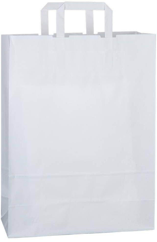 Bílá kraftová taška 32x13x42,5 cm