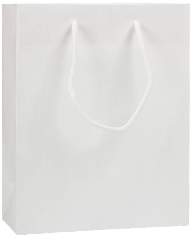 Bílá taška s textilními uchy 22x10x27,5 cm