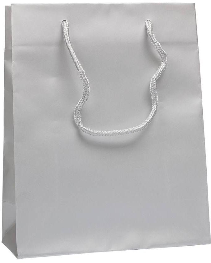 Stříbrná taška s textilními uchy 22x10x27,5 cm