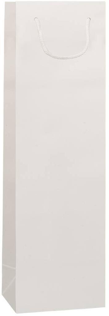 Bílá taška na víno 12x9x40 cm