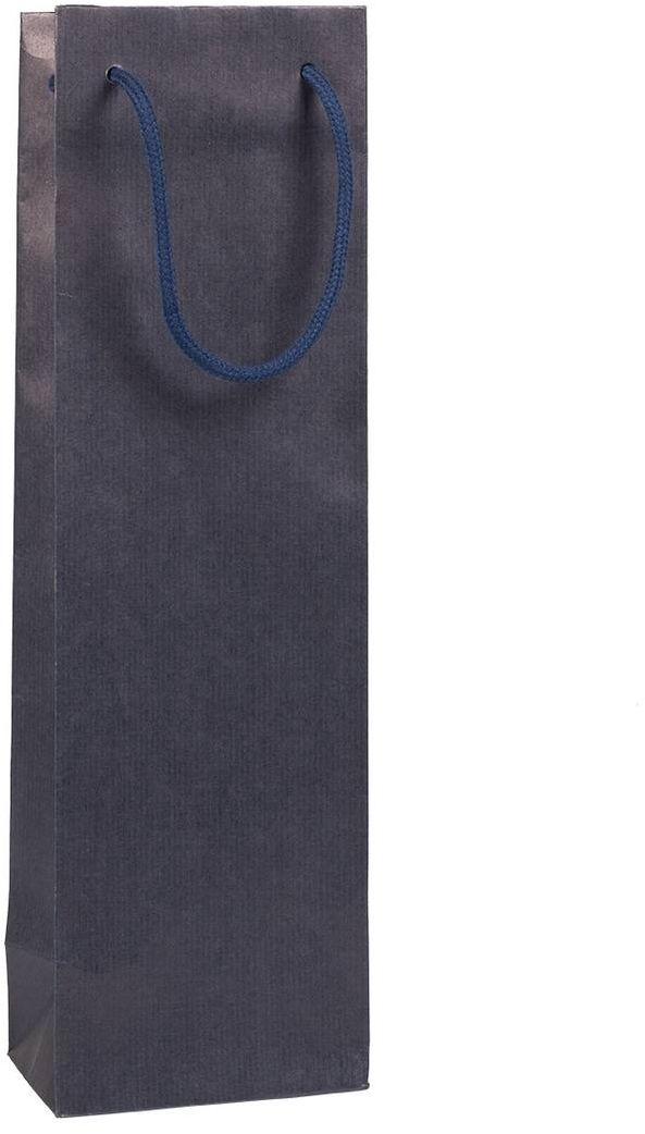 Tmavá taška na víno 12x9x40 cm