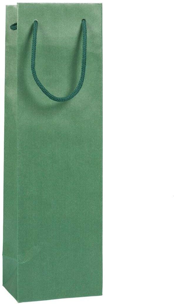 Tmavě zelená taška 12x9x40 cm