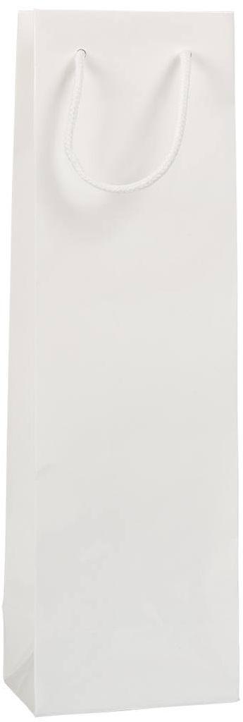 Luxusní bílá taška na víno 12x9x40 cm