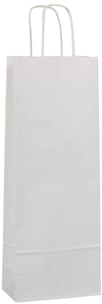 Bílá taška na víno 15x8x40 cm