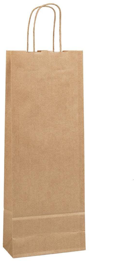 Přírodní taška na víno 15x8x40 cm