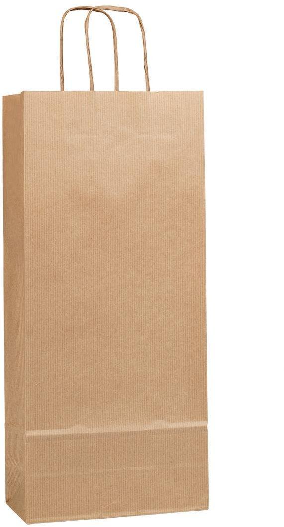Přírodní taška na víno DUO 18x8x40 cm