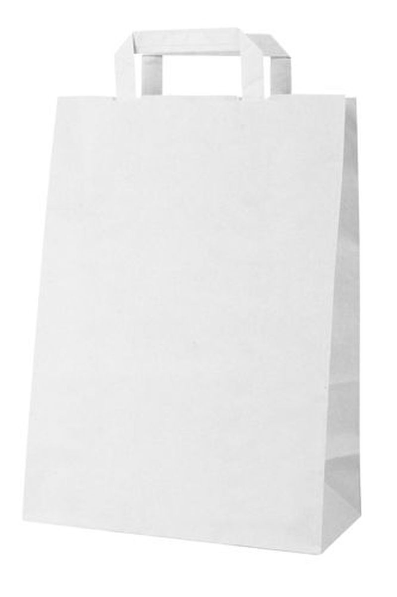 Boutique bílá papírová taška